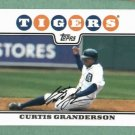 2008 Topps Curtis Granderson Detroit Tigers Yankees