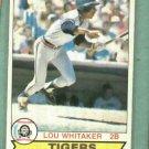 1979 O Pee Chee Lou Whitaker Detroit Tigers