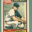 1989 Topps Hills Team MVP's Alan Trammell Detroit Tigers Oddball