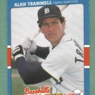 1988 Fleer Baseballs Exciting Stars Alan Trammell Detroit Tigers Oddball