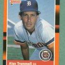 1988 Donruss Baseballs Best Alan Trammell Detroit Tigers Oddball