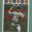 2008 Topps Chrome Justin Verlander Detroit Tigers # 135