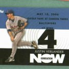 2007 Topps Generation Now Justin Verlander 17 Wins Win 4 Detroit Tigers # GN286