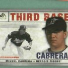 2008 Upper Deck SP Legendary Cuts Miguel Cabrera Detroit Tigers # 65