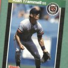 Alan Trammell 1989 Donruss Detroit Tigers # 180