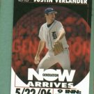 2007 Topps Generation Now Justin Verlander Detroit Tigers # GNV13