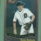 2002 Topps Chrome Ryan Raburn Detroit Tigers Rookie # 692