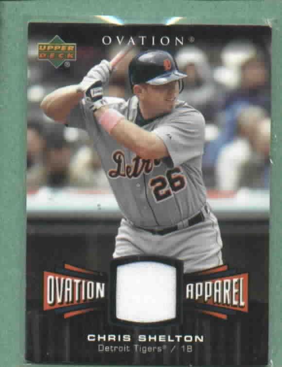 2006 Upper Deck Ovation Apparel Chris Shelton Detroit Tigers Jersey # OA-CS