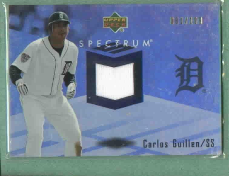 2007 Upper Deck Spectrum Carlos Guillen Jersey Detroit Tigers # SSW-CG