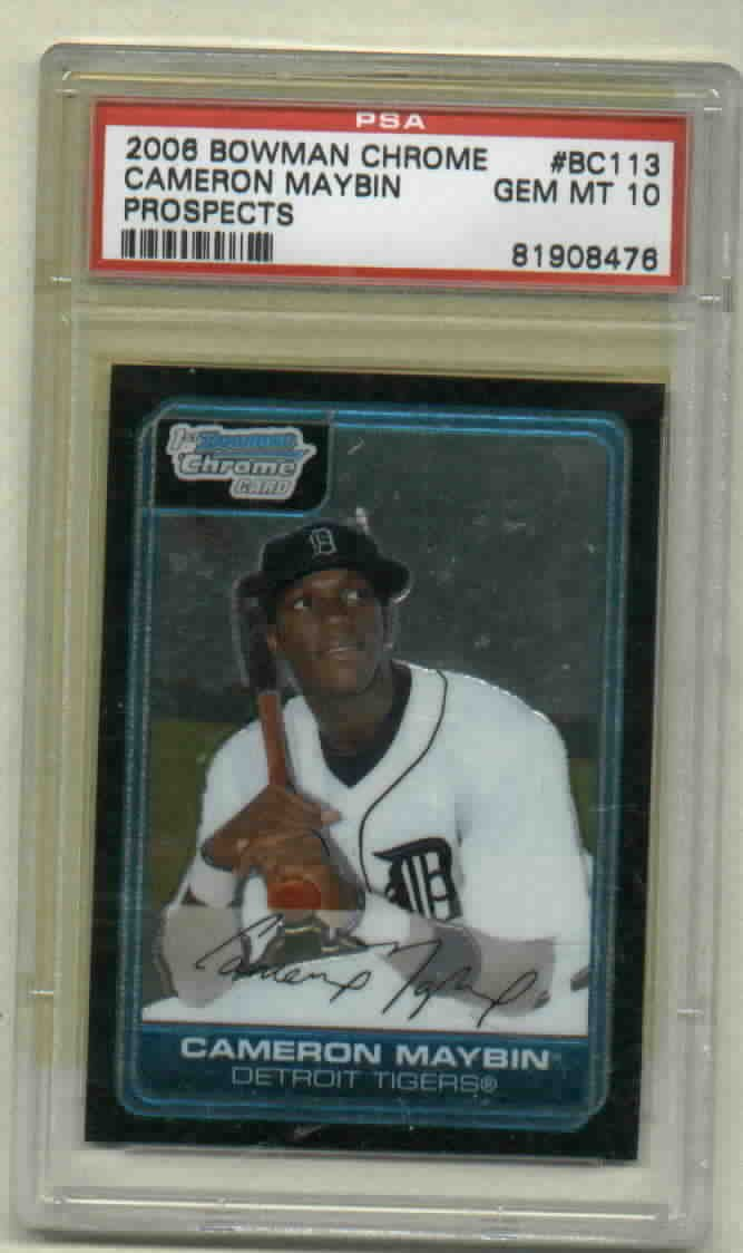 2006 Bowman Chrome Prospects Cameron Maybin Detroit Tigers ROOKIE PSA 10 GEM MINT