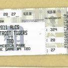 2011 ALCS Detroit Tigers Texas Rangers Game 4 Ticket MINT