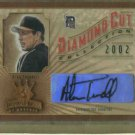 2002 Donruss Diamond Kings Diamond Cut Alan Trammell Autograph Detroit Tigers #/d /500