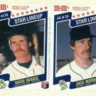 1987 M&M Star Lineup Baseball Card Panel Wade Boggs Jack Morris Detroit Tigers Red Sox