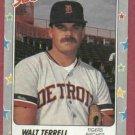 1988 Fleer Star Stickers Walt Terrell Detroit Tigers Oddball