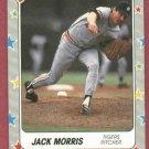 1988 Fleer Star Stickers Jack Morris Detroit Tigers Oddball