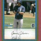 2010 Bowman Gold Jamie Johnson Detroit Tigers Rookie