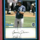 2009 Bowman Chrome Draft Picks Jamie Johnson Detroit Tigers Rookie # BDPP20