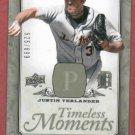 2008 Upper Deck Timeless Moments Justin Verlander Detroit Tigers #D / 699  # TM-20