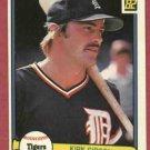 1982 Donruss Kirk Gibson Detroit Tigers # 407