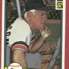 1982 Donruss Sparky Anderson Detroit Tigers # 29