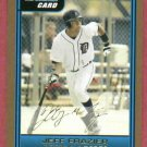 2006 Bowman Gold Jeff Frazier Detroit Tigers Rookie # B58
