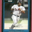 2006 Bowman Jeff Francia Detroit Tigers Rookie # B66