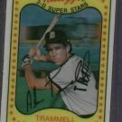 1981 Kelloggs 3D Alan Trammell Detroit Tigers # 51