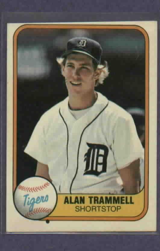 1981 Fleer Alan Trammell Detroit Tigers # 461