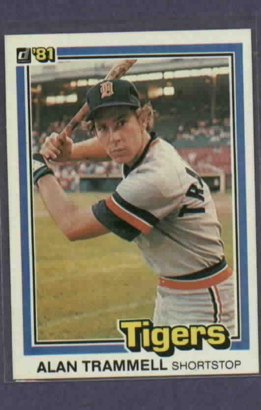 1981 Donruss Alan Trammell Detroit Tigers # 5