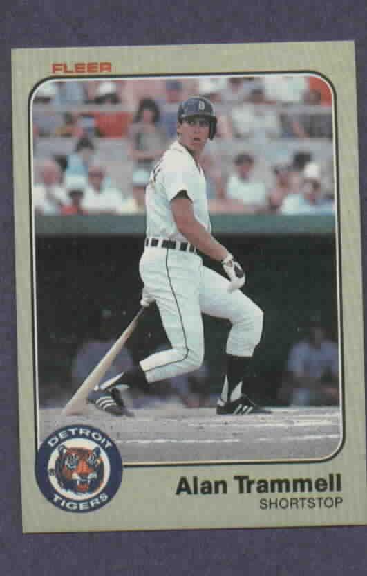 1983 Fleer Alan Trammell Detroit Tigers # 344
