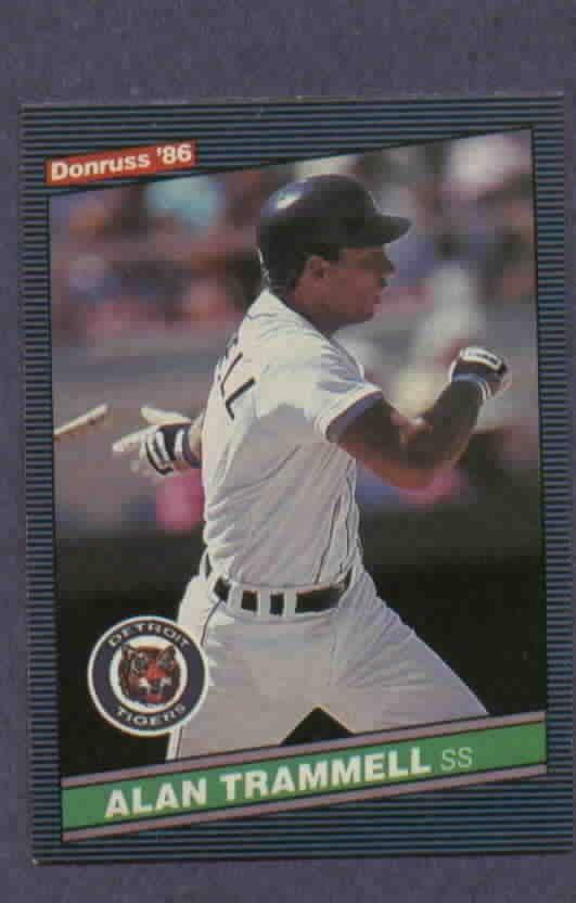 1986 Donruss Alan Trammell Detroit Tigers # 171