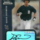 2002 Score Select David Espinosa Detroit Tigers Autograph # 27 Rookie