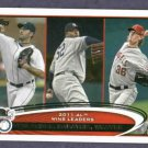 2012 Topps AL Win Leaders Justin Verlander Detroit Tigers # 319