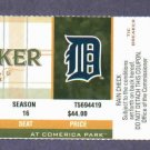 2011 Detroit Tigers MLB Tiebreaker Ticket Comerica Park