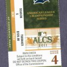 2011 ALCS Series Detroit Tigers Home Game 4 VS Texas Rangers Ticket