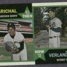 2012 Topps Heritage Then & Now Juan Marichal Justin Verlander Detroit Tigers # TN-MV