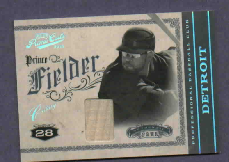 2012 Panini Prince Fielder Bat Card Detroit Tigers #40 #D /49