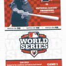 2012 World Series Ticket Detroit Tigers Giants Game 5
