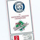 1987 Detroit Tigers Phantom World Series Ticket RARE NO SEAT LOCATION Game 2