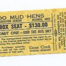 August 15 1980 Toledo Mud Hens Full Season Ticket Mudhens