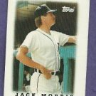 1987 Topps League Leaders Mini Jack Morris Detroit Tigers # 11