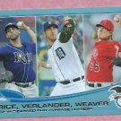 2013 Topps Baseball WalMart Blue ERA Leaders Justin Verlander Detroit Tigers # 94