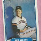 1982 Fleer Milt Wilcox Detroit Tigers # 285