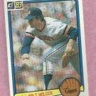 1983 Donruss Milt Wilcox Detroit Tigers # 155