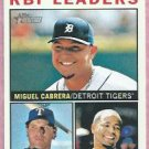 2013 Topps Heritage RBI Leaders Miguel Cabrera Detroit Tigers # 12