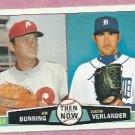 2013 Topps Heritage Then & Now Jim Bunning Justin Verlander Detroit Tigers # TN-BV
