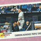 2013 Topps Heritage Memorable Moments Miguel Cabrera Triple Crown Detroit Tigers # MM-MC