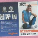 1985 Detroit Tigers WDIV MCI Kell Kaline Sparky Anderson Pocket Schedule Unfolded World Champions