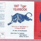1987 Detroit Tigers Yearbook Pocket Schedule Unfolded MINT