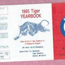 1985 Detroit Tigers Yearbook Pocket Schedule Unfolded MINT
